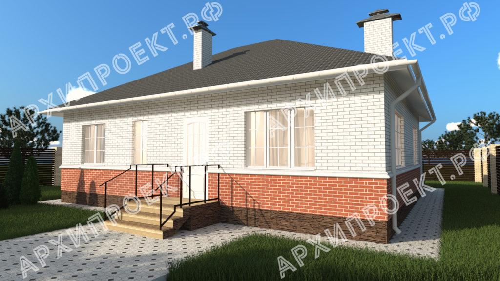 проект простого дома с тремя спальнями фото