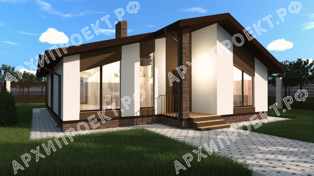 Дом в стиле шале из газобетона