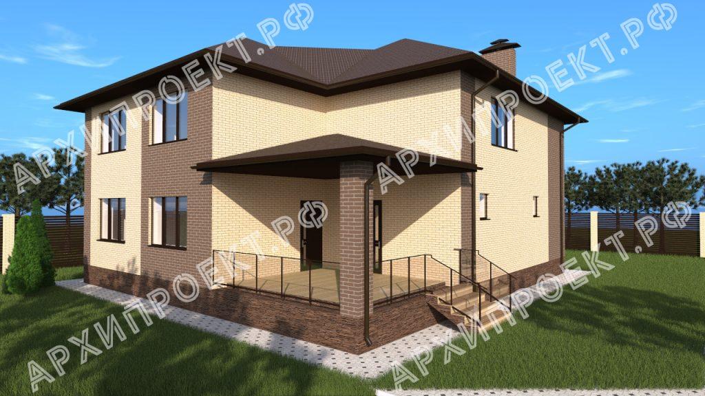 Двухэтажный дом со вторым светом и баней №174