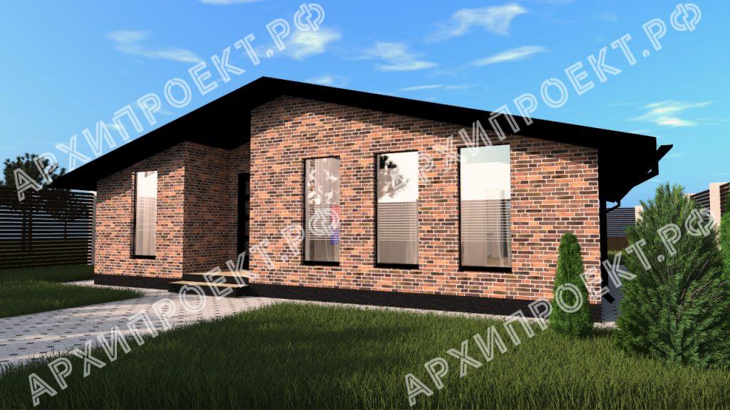 Проект дома в стиле шале 100 кв