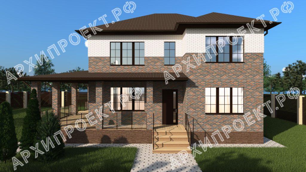 Двухэтажный дом с сауной и большой террасой