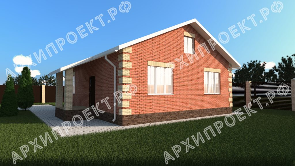 Проект простого дома 10 на 12